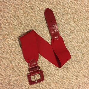 Red stretch waist belt sz s/m